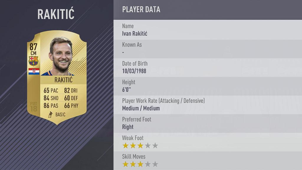Иван Ракитич в FIFA 18