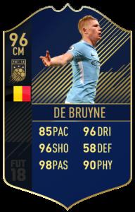 Кевин Де Брёйне, Команда года в FIFA 18