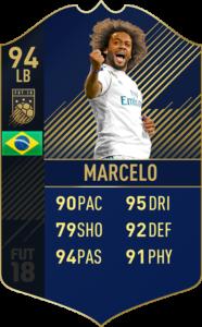 Марсело, Команда года в FIFA 18