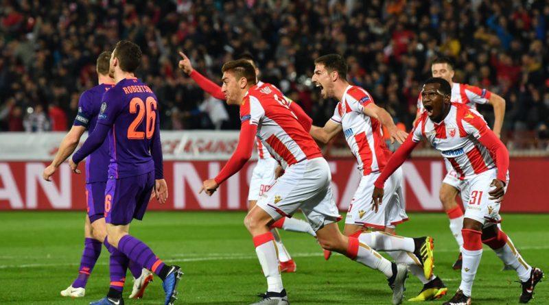 Црвена Звезда на своем поле переигрывает Ливерпуль в Лиге чемпионов со счетом 2:0