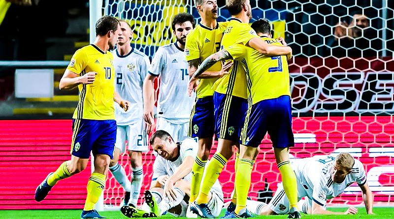 Россия проигрывает Швеции в Лиге наций со счетом 2:0