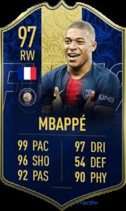 TOTY-карточка Килиана Мбаппе в FIFA 19