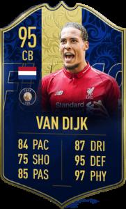 TOTY-карточка Верджила Ван Дейка в FIFA 19