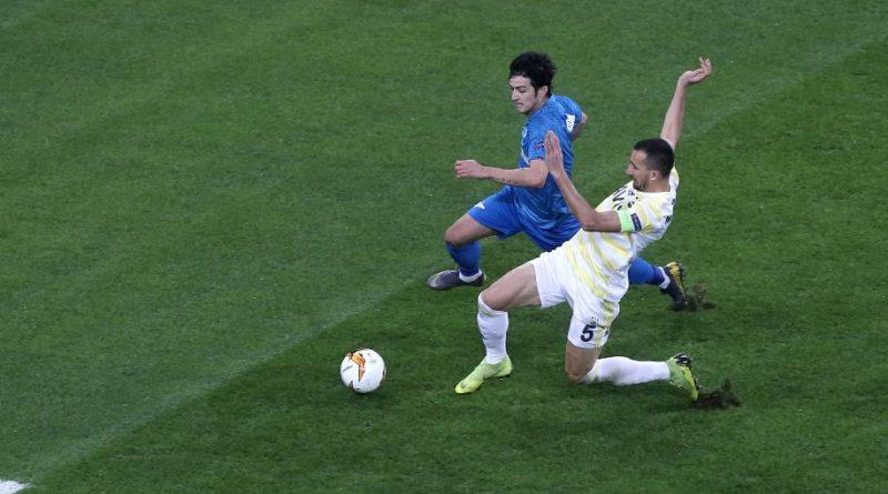 Азмун делает дубль в матче Лиги Европы между Зенитом и Фенербахче