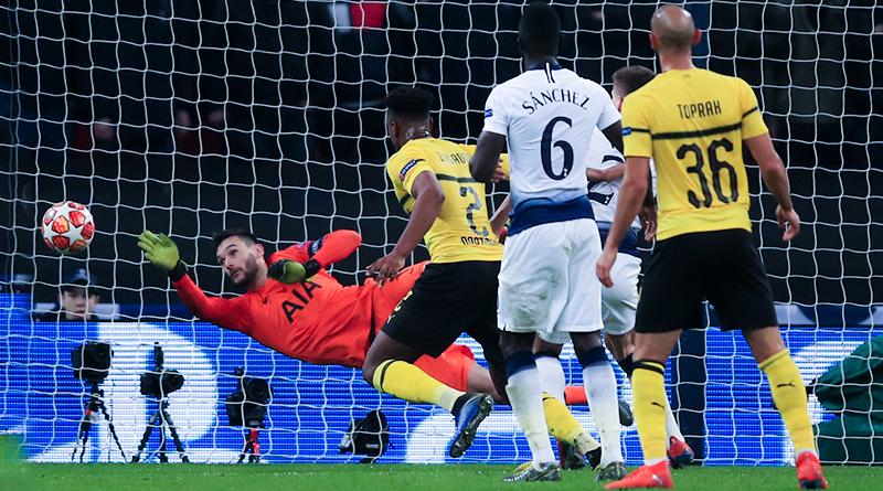 Уго Льорис провел потрясающий матч против Боруссии в 1/8 Лиги чемпионов