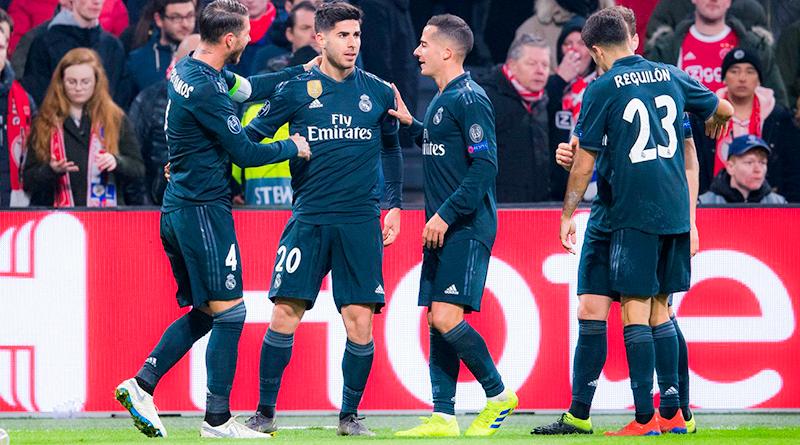 Асенсио забивает победный гол Реала в матче 1/8 финала ЛЧ против Аякса