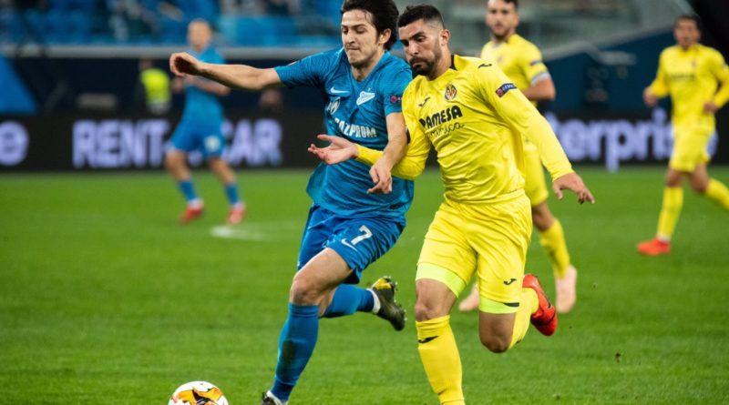 Зенит уступает Вильярреалу со счетом 1:3 в Лиге Европы