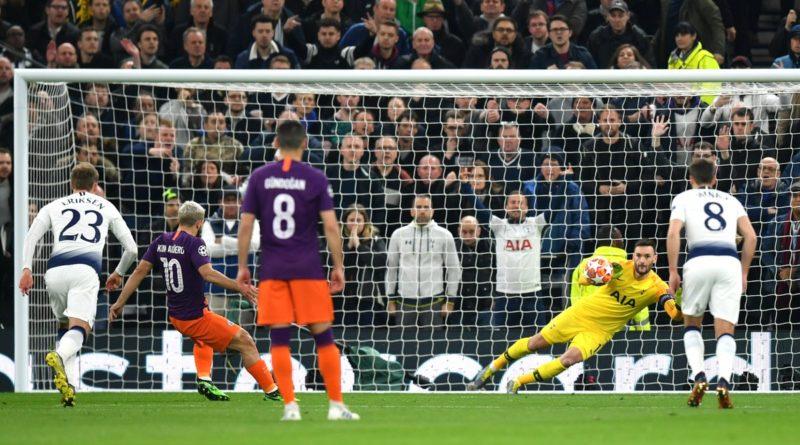 Тоттенхэм обыгрывает Манчестер Сити в 1/4 финала Лиги чемпионов