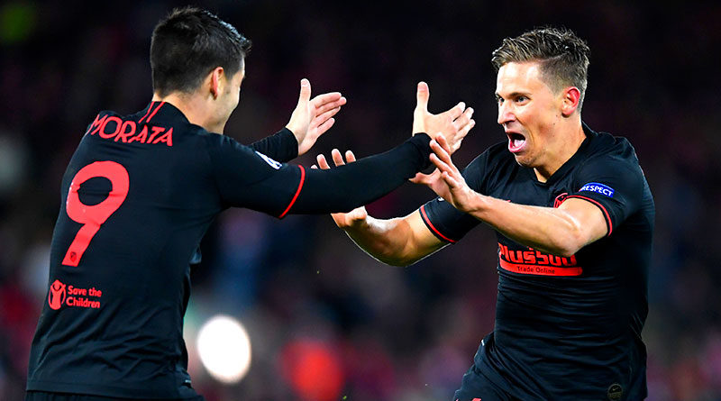 Обзор матча Ливерпуль - Атлетико 2:2 в 1/8 финала Лиги чемпионов