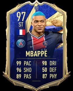 Килиан Мбаппе 97 TOTY FIFA 21