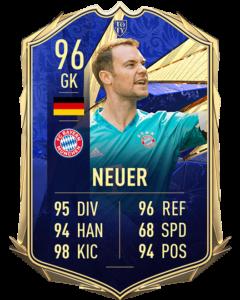Мануэль Нойер 96 TOTY FIFA 21