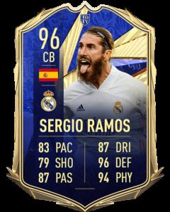 Серхио Рамос 96 TOTY FIFA 21